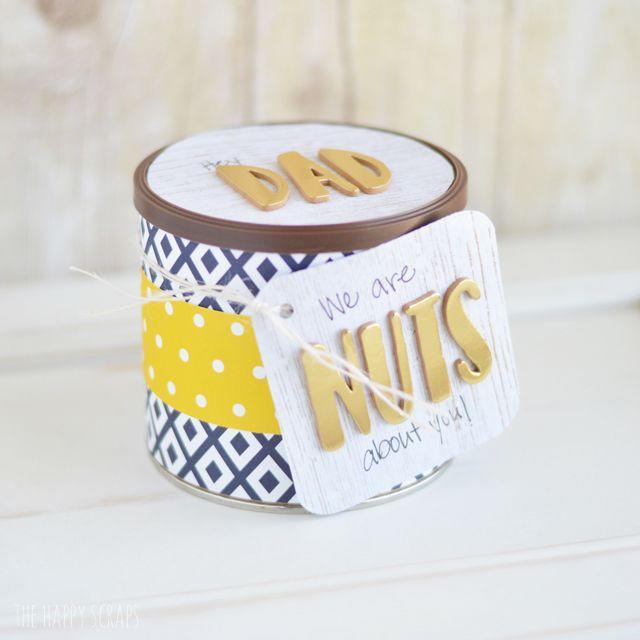 """<p>Add a personalized label to any gift. These come together so quickly and easily, you'll want to use this idea for other holidays as well.</p><p><strong><em>Get the tutorial at <a href=""""https://www.thehappyscraps.com/2017/05/simple-fathers-day-gift.html"""" rel=""""nofollow noopener"""" target=""""_blank"""" data-ylk=""""slk:The Happy Scraps"""" class=""""link rapid-noclick-resp"""">The Happy Scraps</a>.</em></strong></p>"""