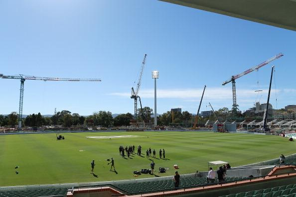 ADELAIDE, AUSTRALIA - NOVEMBER 19: A general view shows the construction during an Australian training session at Adelaide Oval on November 19, 2012 in Adelaide, Australia.  (Photo by Morne de Klerk/Getty Images)
