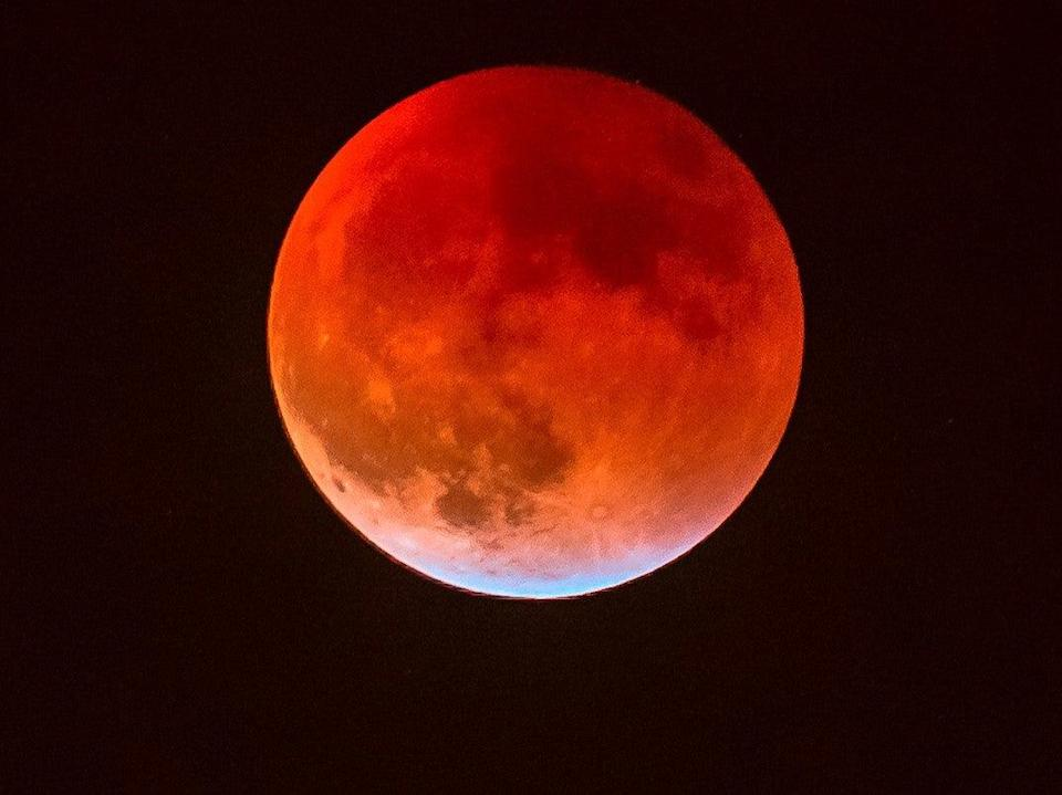 <p>The Blood moon will only be visible from the West Coast of the country</p> (iStock)
