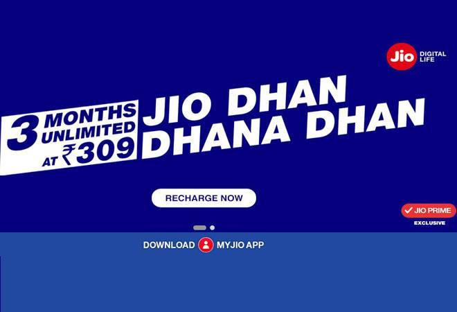 Reliance Jio launches 'Dhan Dhana Dhan' offer; 84 GB for Rs 309