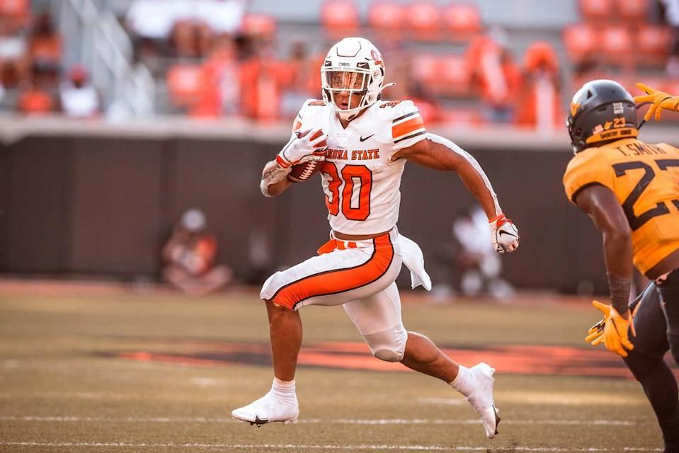 Oklahoma State running back Chuba Hubbard has been drafted by the Carolina Panthers