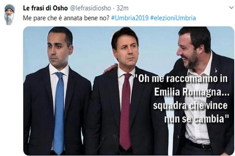 Disfatta M5s-Pd in Umbria, Salvini ride con Osho