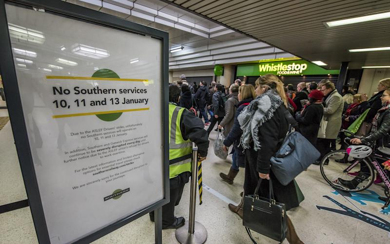 Disruption to trains has hit visitor numbers in London