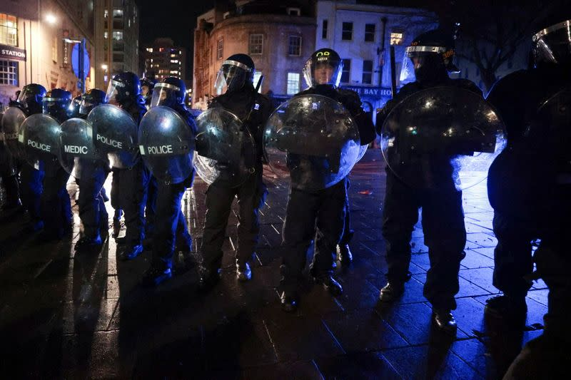 Protest against a policing bill, in Bristol