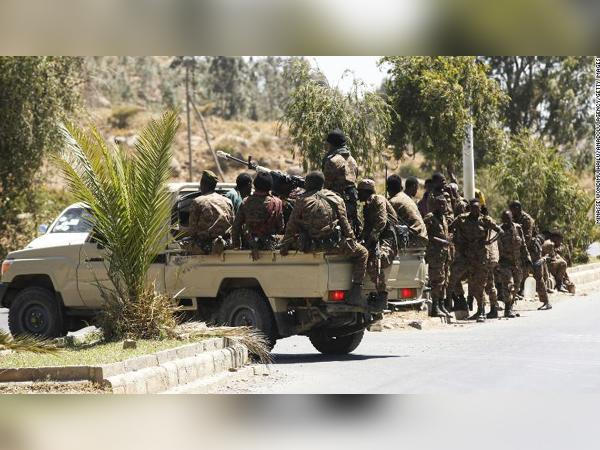 Ethiopian army units patrolling the streets of Mekelle back in March (Credits: CNN)