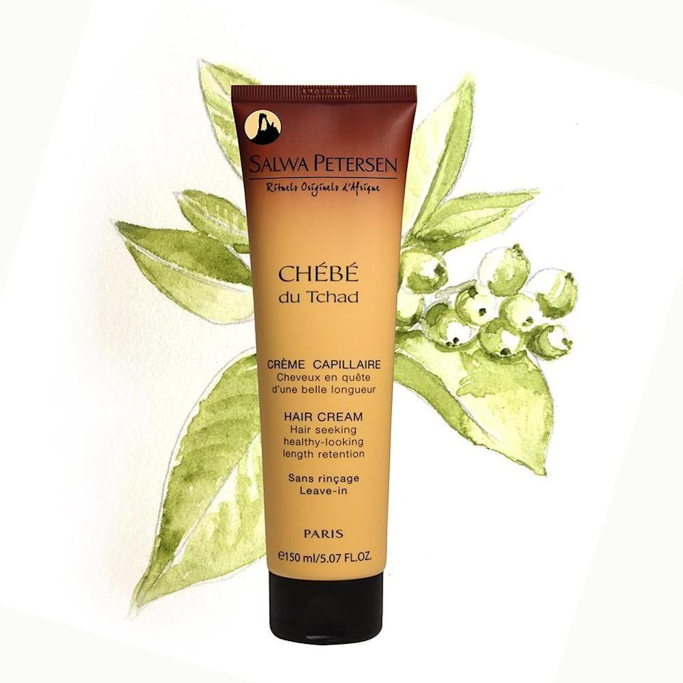"""<p><strong>Chebe du Tchad</strong></p><p>salwa-petersen.com</p><p><strong>55.00</strong></p><p><a href=""""https://salwa-petersen.com/products/chebe-hair-cream"""" rel=""""nofollow noopener"""" target=""""_blank"""" data-ylk=""""slk:Shop Now"""" class=""""link rapid-noclick-resp"""">Shop Now</a></p><p>Salwa Petersen's hair cream not only comes in 100% recyclable packaging, but it also uses paper components that are FSC certified (meaning that it is made from well-managed forests in Europe) and the e-commerce shipments are completely carbon neutral. Even better, 100% of the electricity consumed by the brand's office, lab, and factory is green and 100% of the water used in those facilities is cleaned and put back into the natural water cycle. All of which to say, when you buy a Chebe du Tchad product, you're supporting a carbon negative business. </p>"""