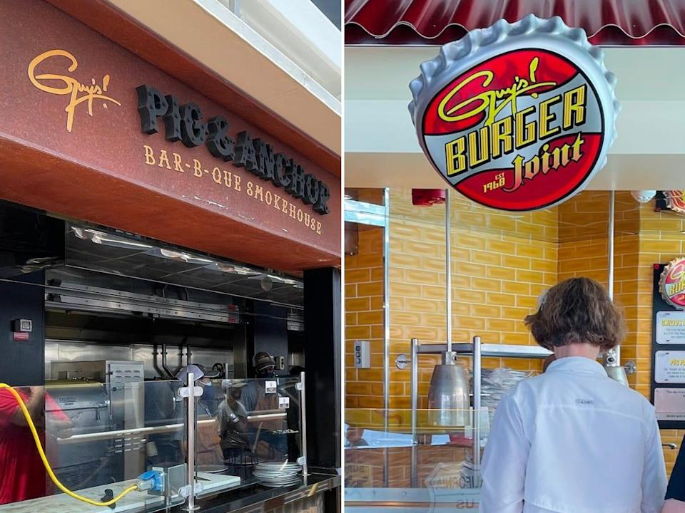 The two buffets created by Guy Fieri on the Carnival Vista.