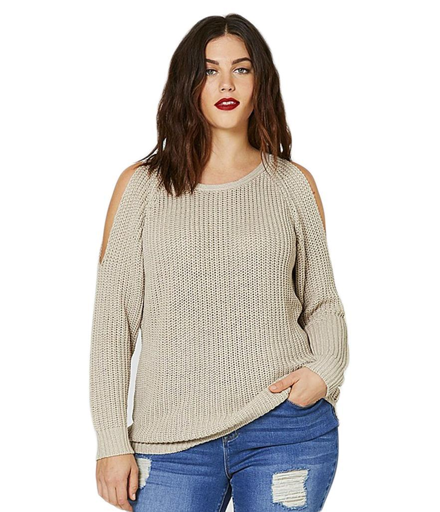 """<p>$39.49,<a rel=""""nofollow noopener"""" href=""""https://www.simplybe.com/en-us/products/cold-shoulder-fisherman-rib-jumper/p/YI512?plpV=&mainSearch=true&outletSearch=false"""" target=""""_blank"""" data-ylk=""""slk:Simply Be"""" class=""""link rapid-noclick-resp"""">Simply Be</a> </p>"""