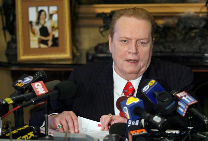 "Larry Flynt, head of Larry Flynt Publications, speaks to the media about the ""D.C. Madam"" sex scandal during news conference in Beverly Hills"