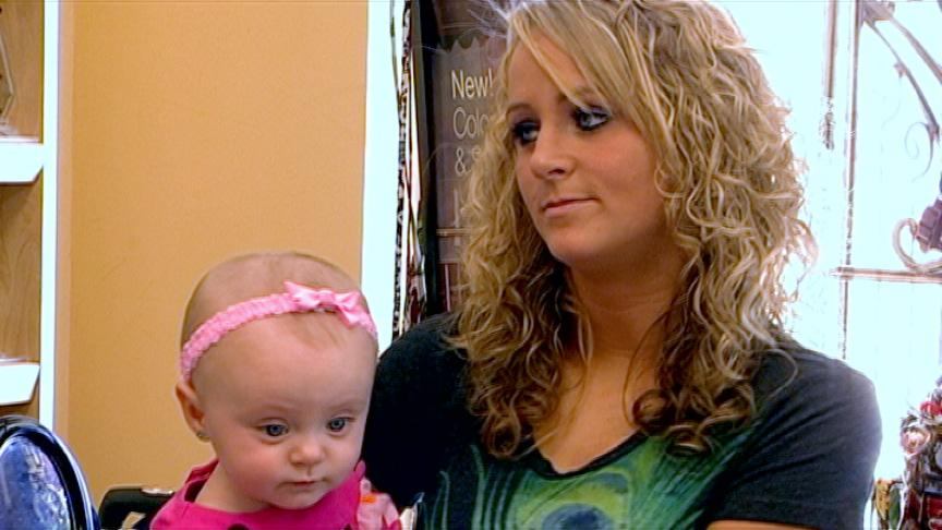 """<b>Leah Messer: Then</b><br><br>Leah Messer had twice the stress of other young parents on """"Teen Moms"""" -- in the form of twins Aliannah and Aleeah. Somehow she managed to graduate from high school and maintain a relationship with her daughters' father, Corey Simms. But when her boyfriend discovered she cheated with an ex, he called it quits. Only upon realizing that baby Aliannah had a brain abnormality, Messer and Simms put aside their differences and shared parenting duties. They were briefly wed, with their six-month union collapsing under the strain of their challenges."""