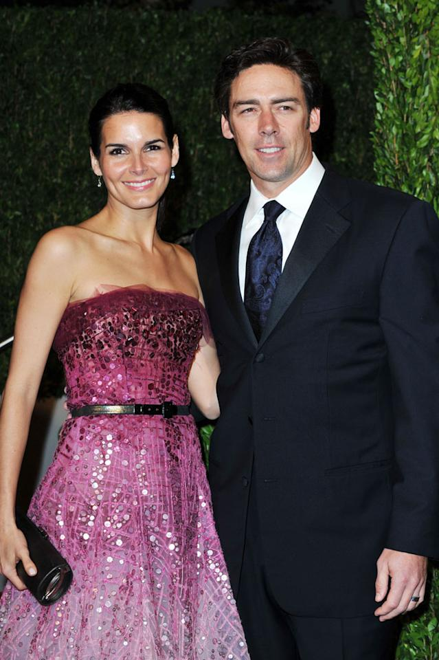 """Ex-New York Giants player Jason Sehorn proposed to his actress wife Angie Harmon live on """"The Tonight Show With Jay Leno"""" in 2000. The couple married in 2001 and have three daughters. Pascal Le Segretain/<a href=""""http://www.gettyimages.com/"""" target=""""new"""">GettyImages.com</a> - March 7, 2010"""