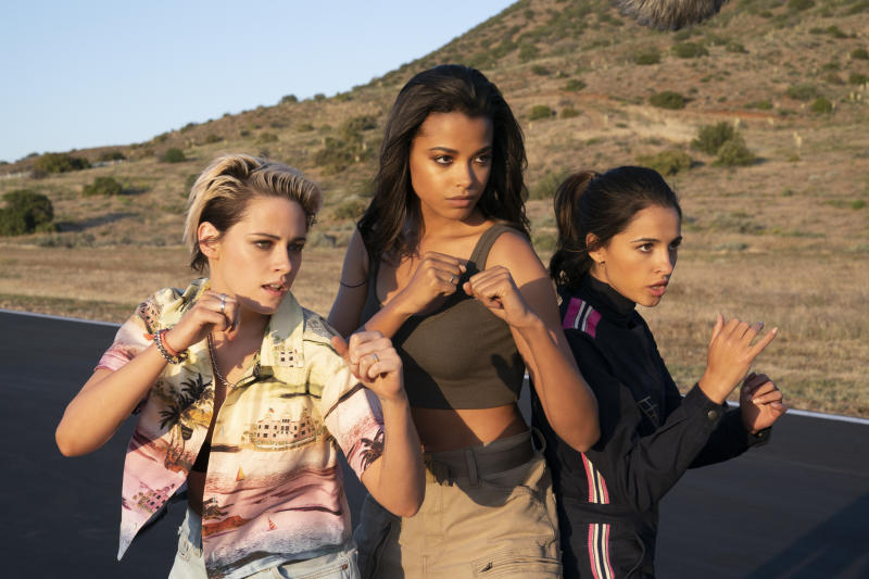 Kristen Stewart, Ella Balinska and Naomi Scott star in Charlie's Angels.