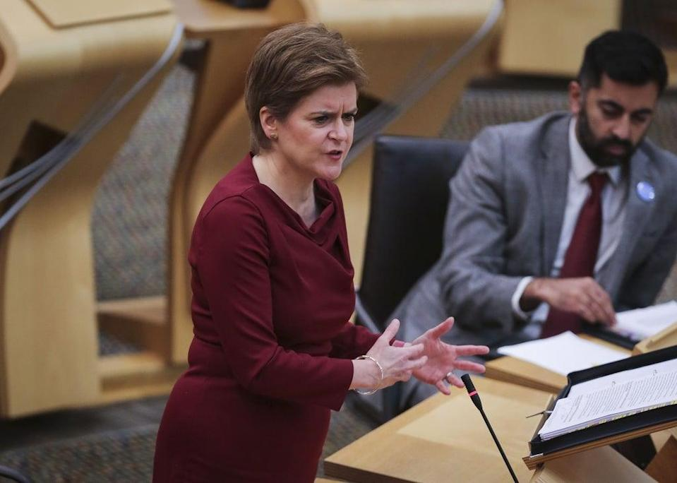 First Minster Nicola Sturgeon said it is important no-one is left behind by the transition (Fraser Bremner/Daily Mail/PA) (PA Wire)