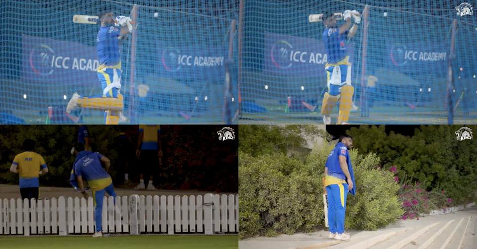 Watch: MS Dhoni Hits Towering Sixes During CSK's Practice Session In Dubai; Then Goes To Search Balls Gully Cricket Style