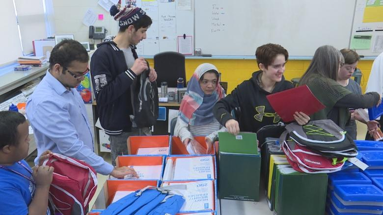 Regina backpack project aim to welcome Syrian refugees into schools