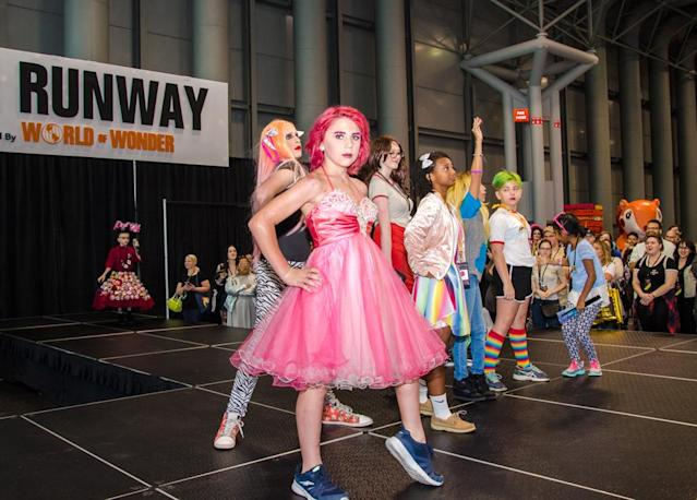 A kids' runway event kicked off RuPaul's DragCon on Sunday. (Photo: The Drunken Photographer for Yahoo)