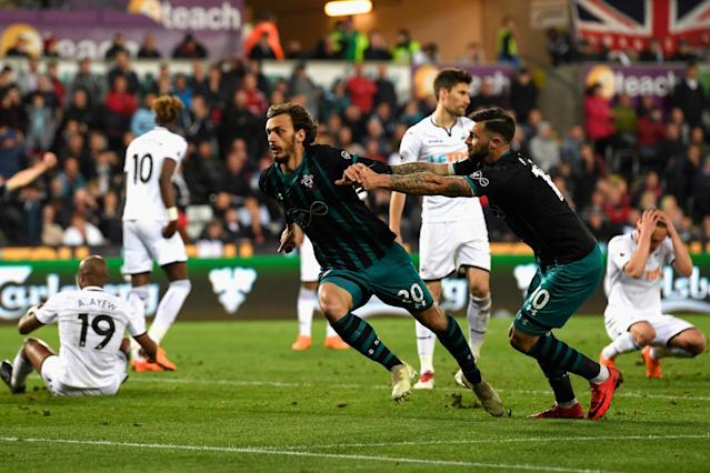 Swansea City 0 Southampton 1: Manolo Gabbiadini boosts Saints and relegates West Brom from the Premier League