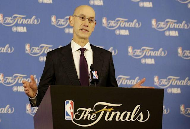 NBA commissioner Adam Silver continues to embrace legalized sports gambling. (AP)