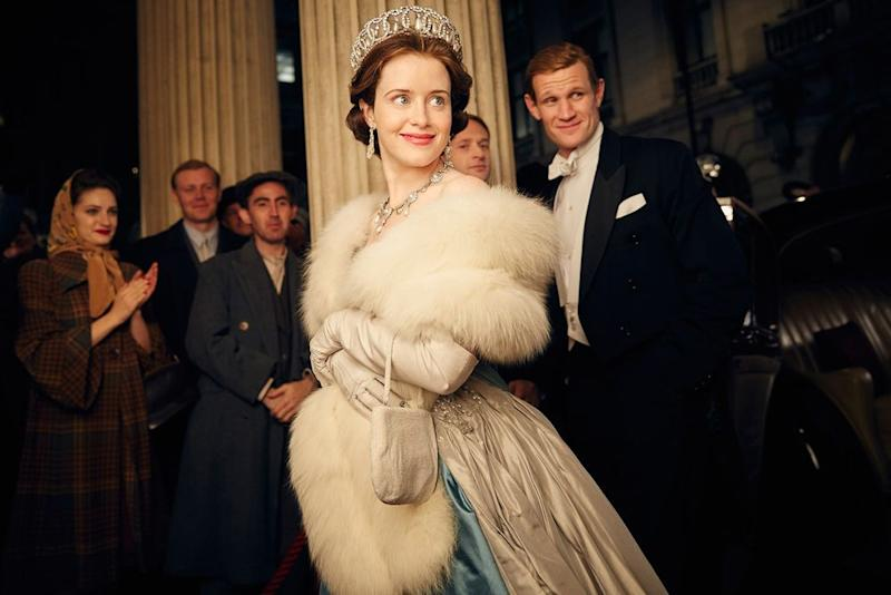 Claire Foy and Matt Smith in <em>The Crown</em>