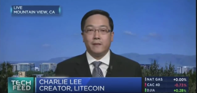 Charlie Lee on CNBC in 2017