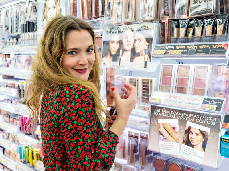 drew barrymore makeup flower beauty