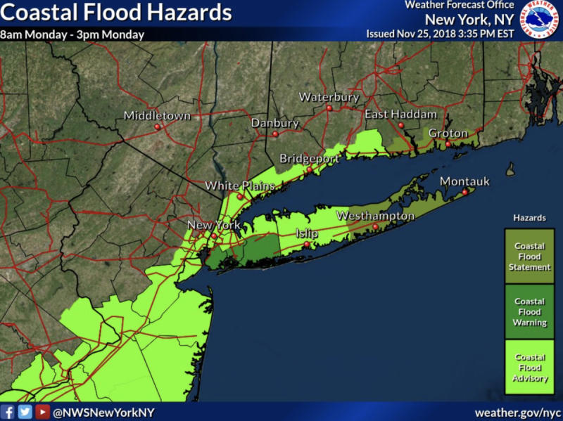 Long Island Weather: Coastal Storm to Make For a Messy Monday