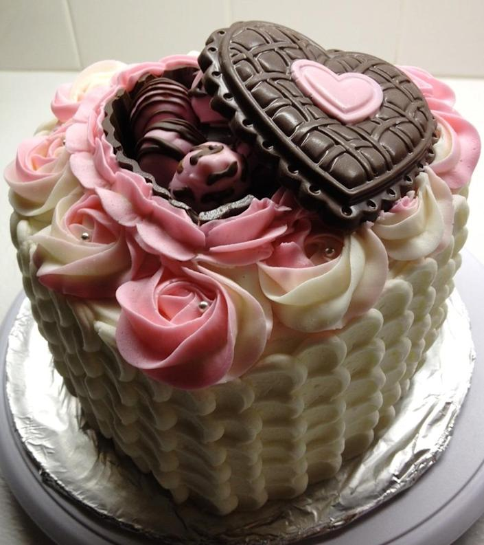 """<p>Erm, YES. <i>[Photo: <a href=""""http://www.cakecentral.com/gallery/i/2242755/valentinesbirthday-cake"""" rel=""""nofollow noopener"""" target=""""_blank"""" data-ylk=""""slk:Cake Central"""" class=""""link rapid-noclick-resp"""">Cake Central</a>]</i></p>"""