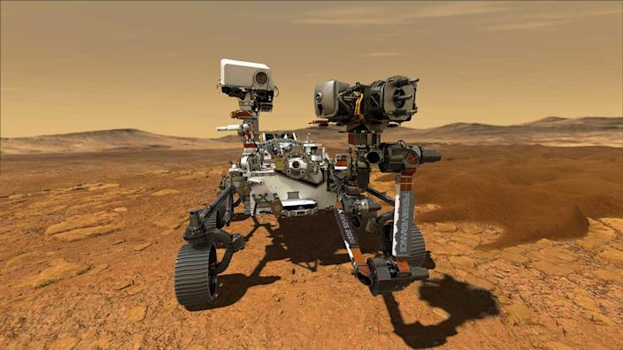 An artist's rendering of the new Mars Rover Perseverance, which is expected to reach the Red Planet in 2021.
