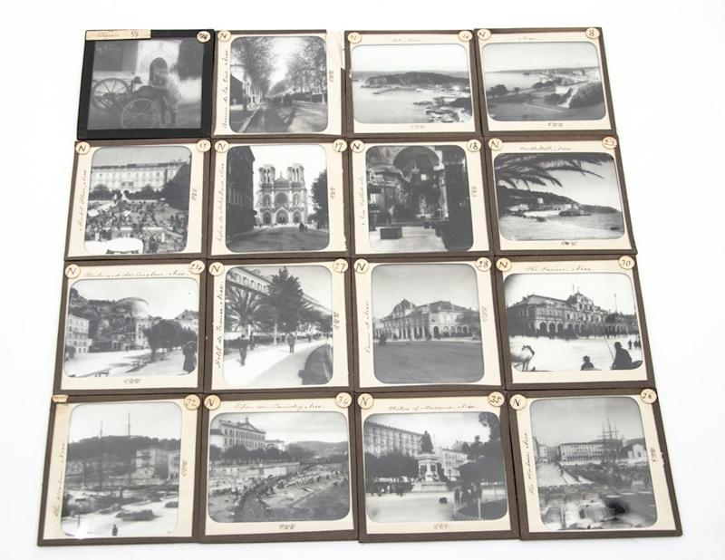 Glass slides of France in the Henderson collection