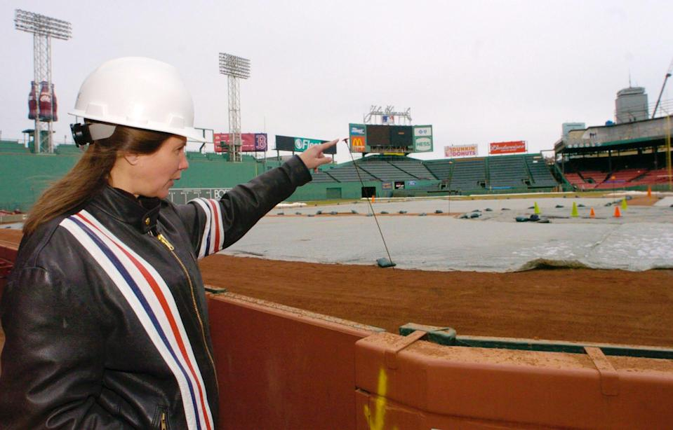 Janet Marie Smith at Fenway Park in 2004.