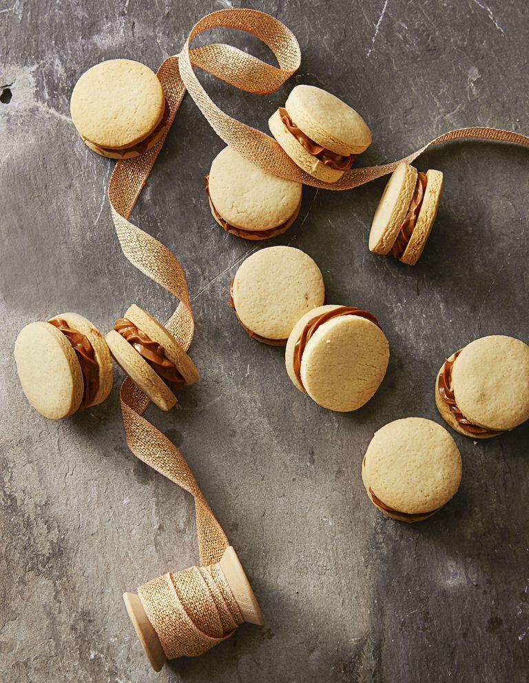 "<p>The sweet caramel filling is the perfect contrast to your savory Thanksgiving dinner. </p><p><em><a href=""https://www.goodhousekeeping.com/food-recipes/dessert/a35757/dulce-de-leche-sandwiches/"" rel=""nofollow noopener"" target=""_blank"" data-ylk=""slk:Get the recipe for Dulce de Leche Sandwiches »"" class=""link rapid-noclick-resp"">Get the recipe for Dulce de Leche Sandwiches »</a></em></p>"