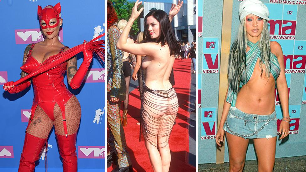 Because we're missing out on the wonderful and whacky red carpet this year, here are red carpet looks from days gone by that turned heads at the MTV VMAs for all the wrong reasons.