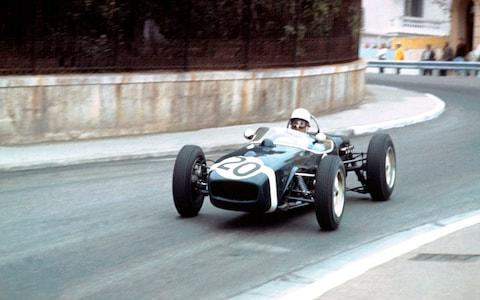 1961 Stirling Moss driving a Lotus 18 at Monaco GP  - Credit: GP Library
