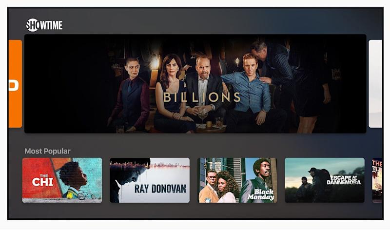 The Apple TV Showtime service provides you with access to all of the premium channel's content, as well as offline viewing. (Image: Apple)
