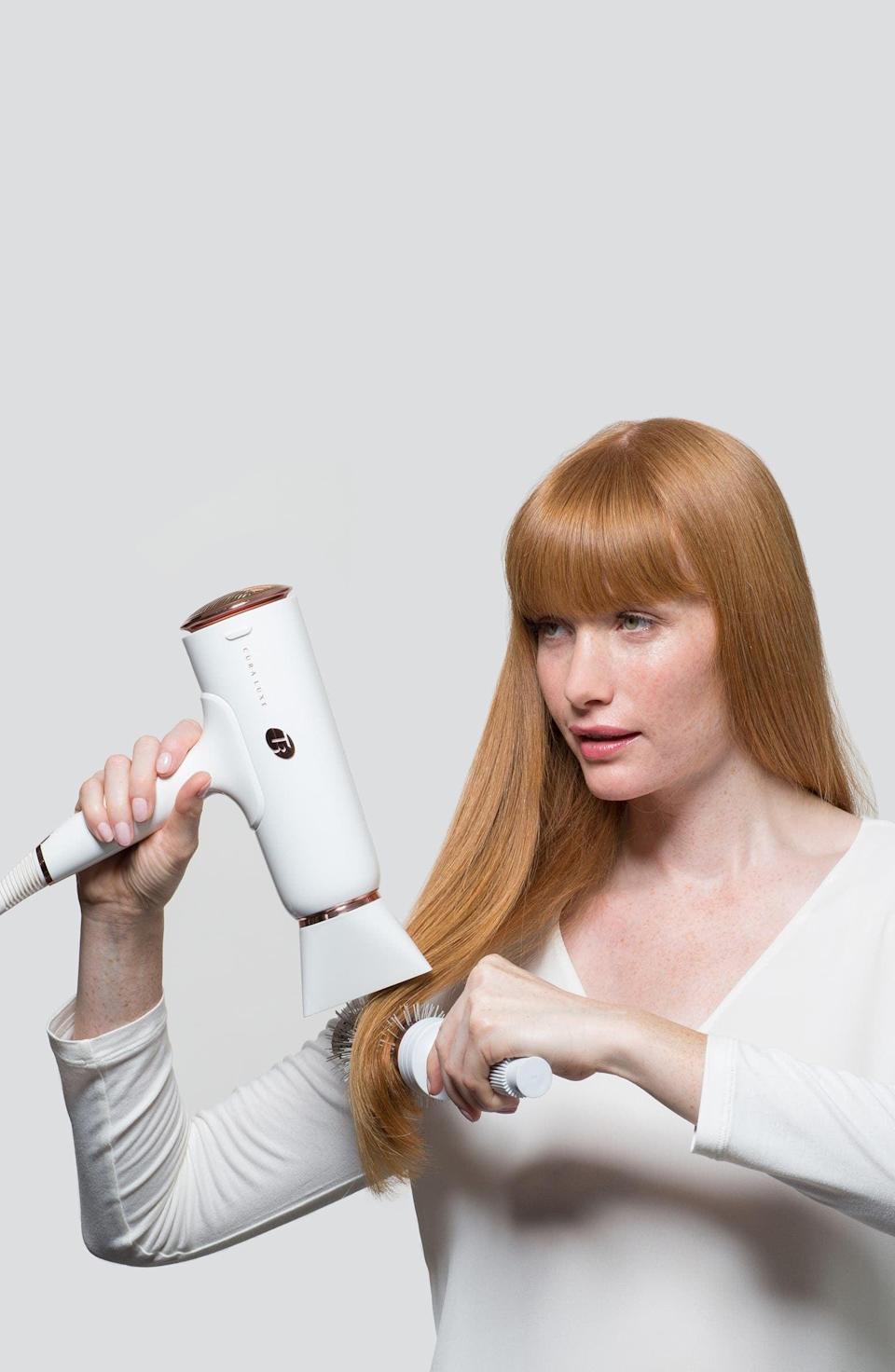 <p><span>T3 Cura Luxe Professional Ionic Hair Dryer With Auto Pause Sensor</span> ($230, originally $285)</p>
