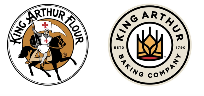During the pandemic, the 230 year old company changed its logo and name from King Arthur Flour to King Arthur Baking Company.