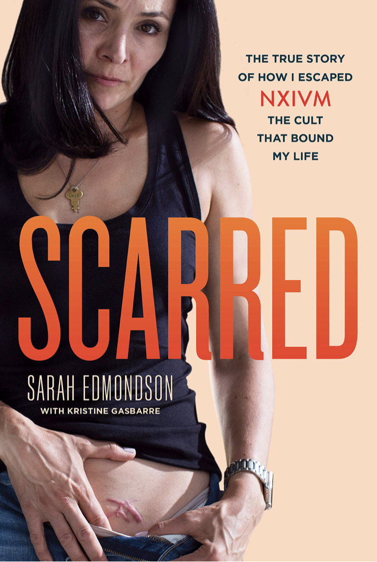 Former Nxivm member Sarah Edmondson has written a book called Scarred about her time in the cult. (Screenshot: Amazon)