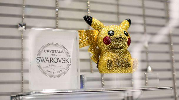PHOTO: (FILES) In this file photo taken on November 19, 2019, a statuette of Pokemon game character Pikachu, studded with Swarovski crystals, is displayed at a Pokemon store during a press preview in Tokyo. (Behrouz Mehri/AFP via Getty Images)