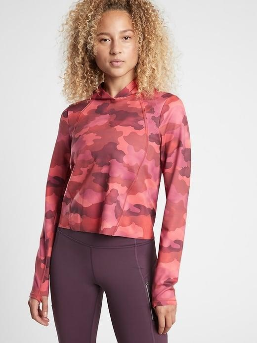 <p>This colorful <span>Athleta Pinnacle Hoodie</span> ($89) can also add so much to an all-black outfit (while also keeping you warm). </p>