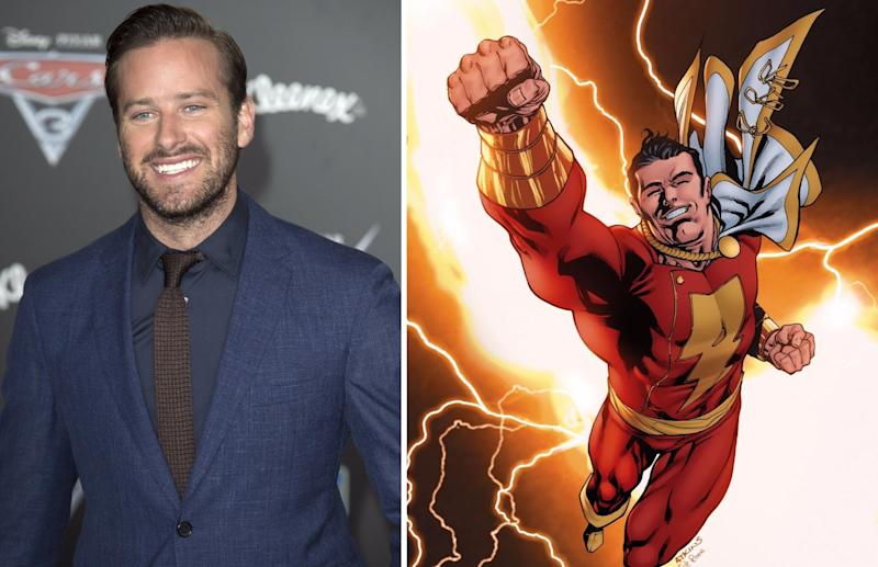 Will Armie Hammer soon be saying the magic word 'Shazam' for Warner Bros and the DCEU? (Credit: WENN/DC Comics)