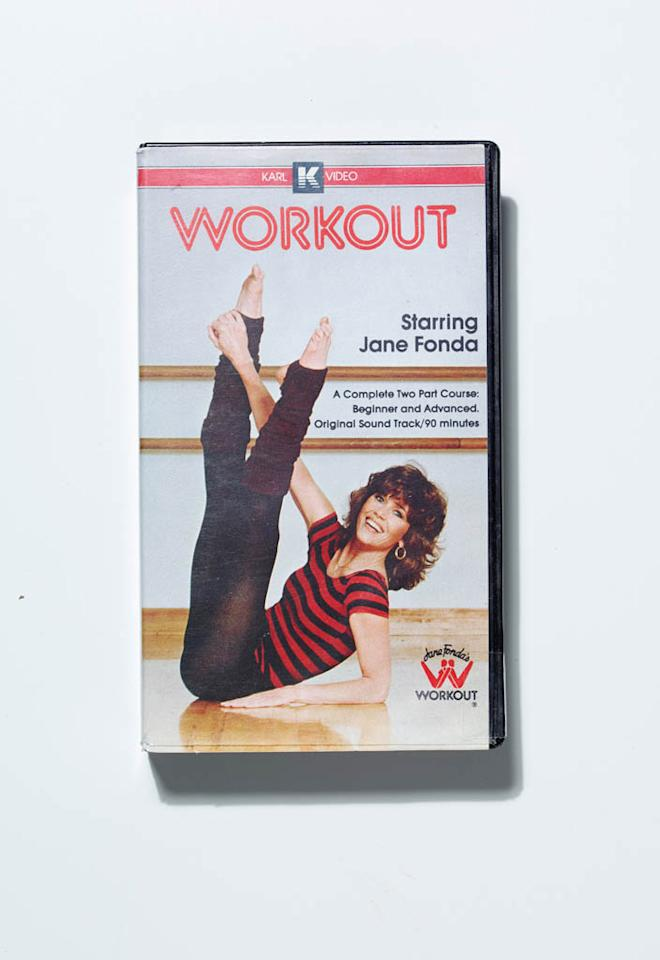 Women began exercising at home with the Jane Fonda workout tapes.