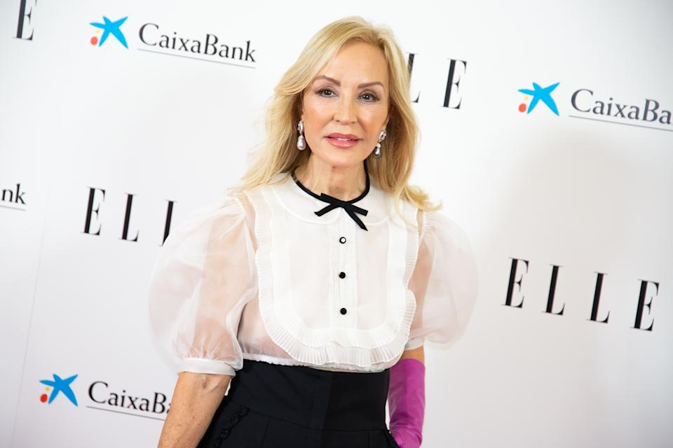 MADRID, SPAIN - DECEMBER 15: Carmen Lomana attends 'Elle 75th Anniversary' photocall at Centro Centro on December 15, 2020 in Madrid, Spain.  (Photo by Patricia J. Garcinuno/WireImage)