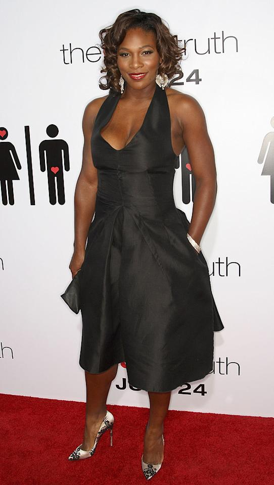 """<a href=""""http://movies.yahoo.com/movie/contributor/1804667465"""">Serena Williams</a> at the Los Angeles premiere of <a href=""""http://movies.yahoo.com/movie/1810021980/info"""">The Ugly Truth</a> - 07/16/2009"""