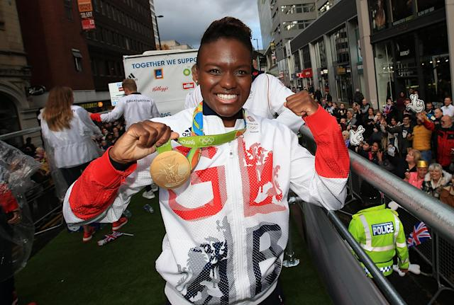 Nicola Adams poses with her 2016 gold medal (Credit: Getty Images)