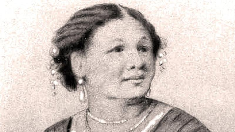 Black and white sketch of Mary Seacole