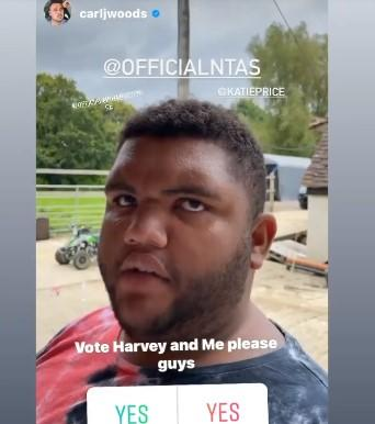 Harvey has asked his fans to vote for him to win a National Television Award. (Instagram)