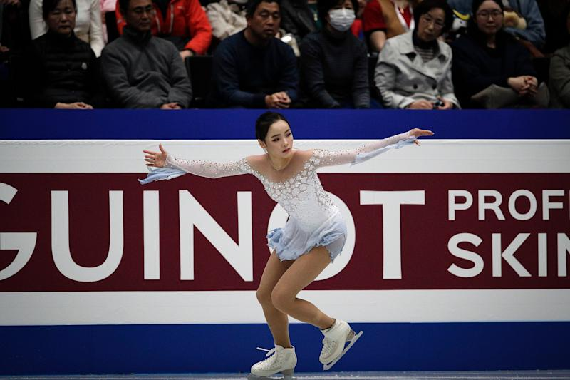 Lim Eun-soo finished in fifth place ahead of Ms Bell, who came in sixth. (AP)