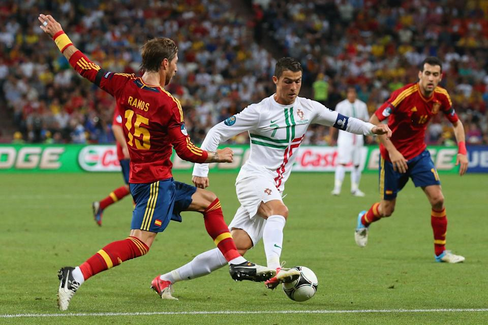 Portugal and Spain help make up the group with the shortest cumulative distance between four countries from three continents in World Cup history. (Getty)