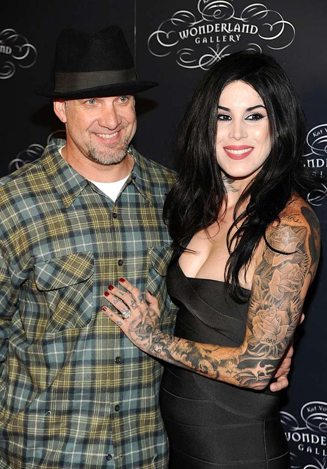 """What was he (Jesse James) thinking?! What was she (Kat Von D) thinking?! What were they (Hollywood's freakiest couple) thinking?! OMG! Frazer Harrison/<a href=""""http://www.gettyimages.com/"""" target=""""new"""">GettyImages.com</a> -September 2, 2010"""
