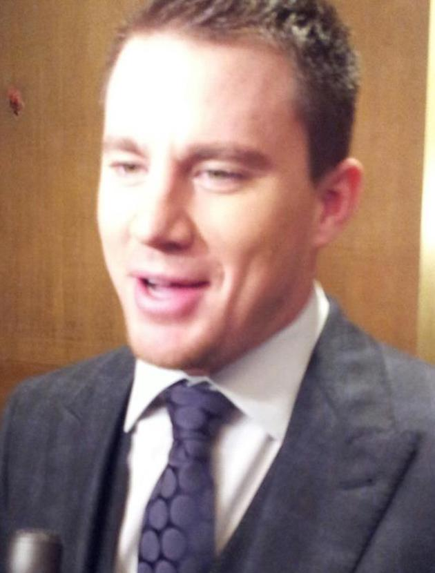 Celebrity photos: Unfortunately Channing Tatum was dressed for our interview *giggles*